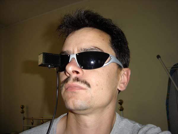 auf die brille spritzen